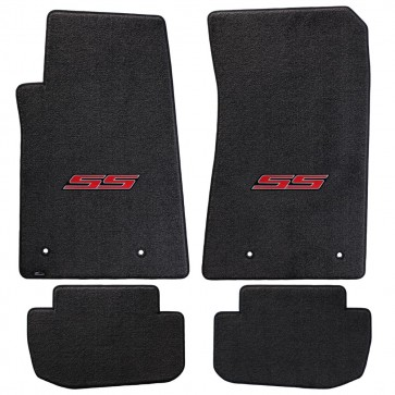 Camaro 2010-2015 4Pc Mats Ebony Ultimat SS Logo