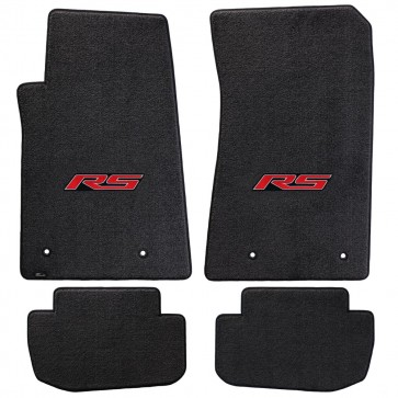 Camaro 2016 4Pc Mats Ebony Ultimat RS Logo