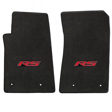 Camaro 2010-2015 2Pc Mats Ebony Velourtex RS Logo