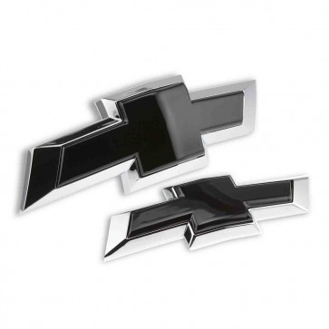 Chevy Bowtie Emblem Insert Front/Rear Combo - Polished