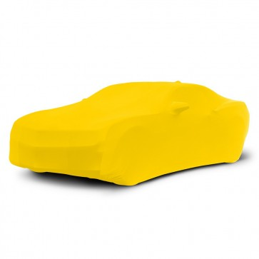 2010-2020 Satin Stretch Indoor Camaro Car Cover - Yellow