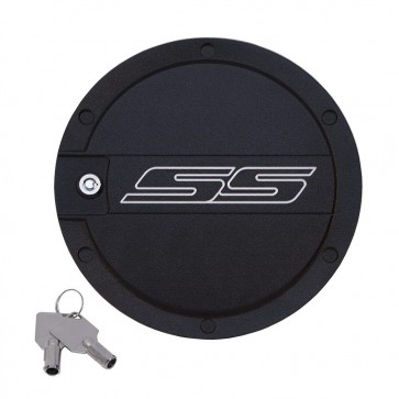 Camaro Locking Fuel Door - SS Logo-Two Tone