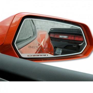 Camaro Side View Mirror Trim - Camaro- Brushed Stainless