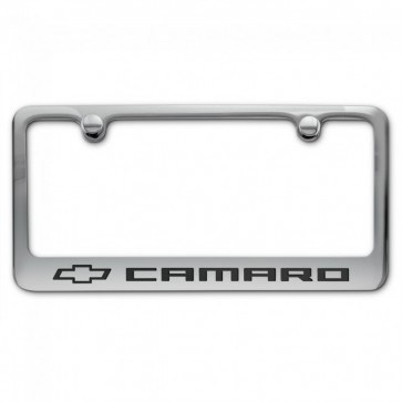 Camaro License Plate Frame - Chrome