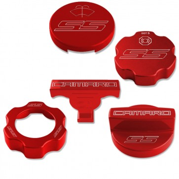 Gen-6 Camaro Under Hood Cap Cover Kit - SS Logo