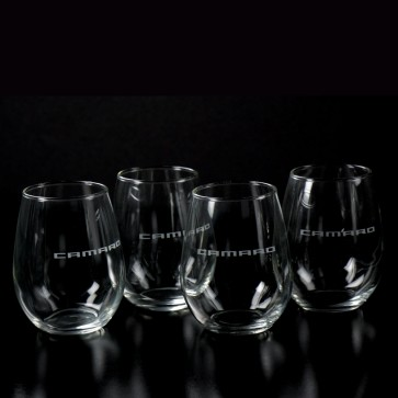 Camaro Stemless Wine Glass Set - 12 oz.