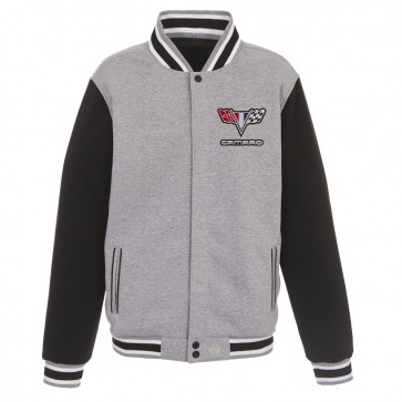Camaro Reversible | Varsity Jacket - Gray/Black