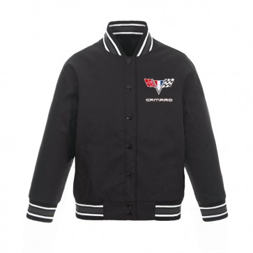 Camaro Ladies Varsity Jacket | Charcoal/Black