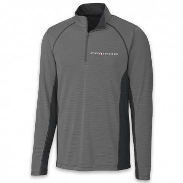 Camaro Colorblock | Half Zip - Gray/Black