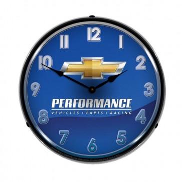 Chevrolet Performance | LED Clock - Blue