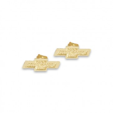 Chevy Bowtie 14k | Yellow Gold Post Earrings