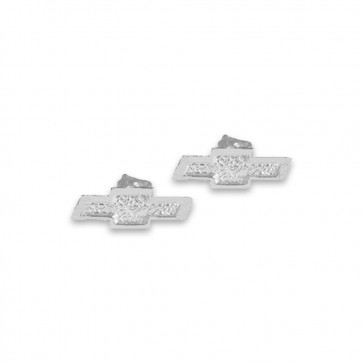 Chevy Bowtie Sterling Silver | Post Earrings
