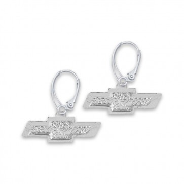 Chevy Bowtie Sterling Silver | Leverback Earrings