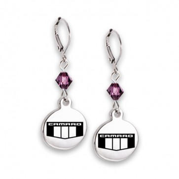 Camaro Emblem | Swarovski Leverback Earrings