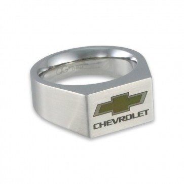 Chevy Bowtie Stainless Steel | Brushed Emblem Signet Ring
