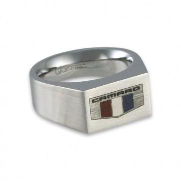 Camaro Stainless Steel | Color Emblem Signet Ring