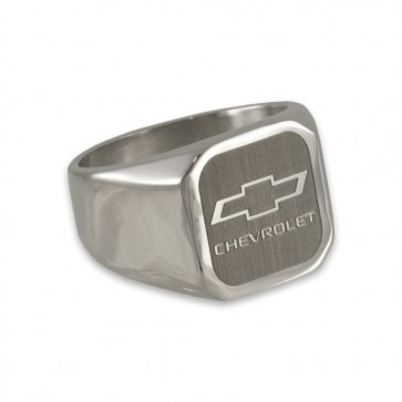 Chevy Bowtie Cut-Out | Stainless Steel Signet Ring