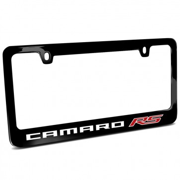 Camaro RS Black Metal | License Plate Frame