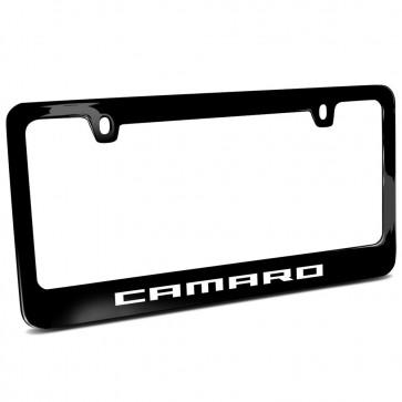 Camaro Signature Black | Metal License Plate Frame