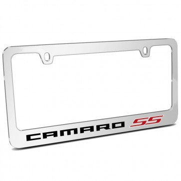 Camaro SS Chrome Metal | License Plate Frame