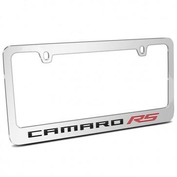 Camaro RS Chrome Metal | License Plate Frame