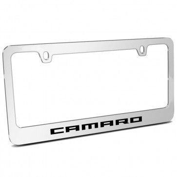 Camaro Chrome Metal   License Plate Frame