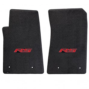 Gen-6 Camaro | (2) Ultimat® Ebony Mats | RS Logo