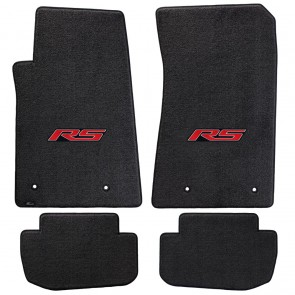 Gen-6 Camaro | (4)  Ultimat® Ebony Mats | RS Logo