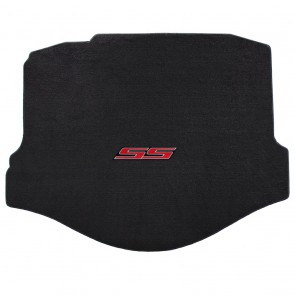 Gen-6 Camaro | Velourtex® Ebony Trunk Mat | SS Logo (Coupe Only)