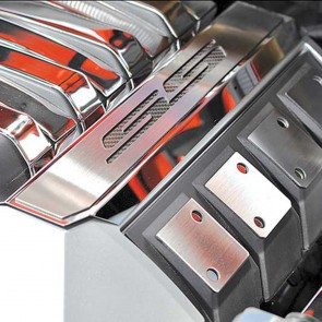 2010-2013 Polished Carbon Fiber Fuel Rail Covers - SS Logo