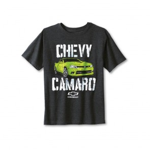 Chevy Camaro Youth Tee | Heather Black