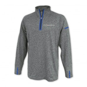Laser Accent Quarter-Zip Fleece - Gray/Royal
