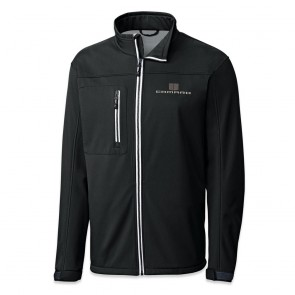 Hood Stripes Waterproof Jacket - Black