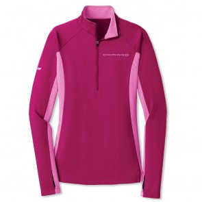 Accent Half-Zip Pullover | Pink Rush/Pink Rush Heather