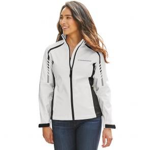 Metro Traveler Soft Shell Jacket - White/Deep Gray