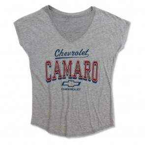 Camaro Dolman V-Neck Tee | Heather Gray