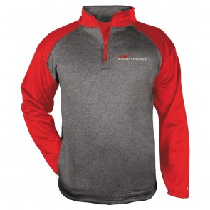 Badger Performance Quarter-Zip - Carbon Heather/Red
