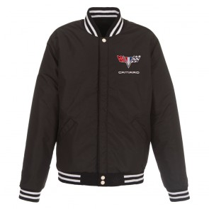 Camaro Reversible | Varsity Jacket - Black/White
