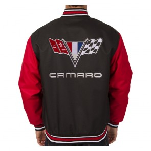 Camaro Varsity Jacket | Black/Red