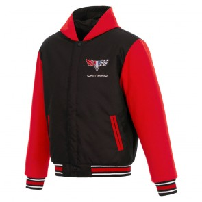 Camaro Reversible | Varsity Jacket - Black/Red