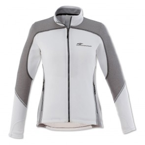 Camaro Rally Stripe Full-Zip Jacket - White/Heather Gray