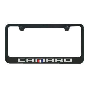 Camaro Heritage License Plate Frame - Black Gloss