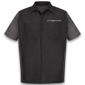 Red Kap® Two-Tone | Crew Shirt - Black/Charcoal