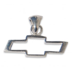Chevy Bowtie Sterling Silver   Pendant