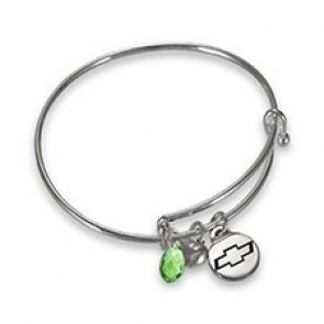 Chevy Bowtie Adjustable Charm Bracelet
