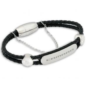 "Camaro Signature 7"" | Black Leather Bracelet"
