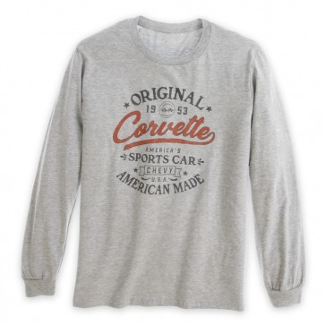 Corvette Original Long Sleeve Tee - Heather Gray