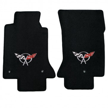 Corvette 1997-2004 2Pc Mats Black Ultimat C5 Logo