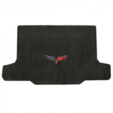 Corvette 2005-2013 Convertible Cargo Mat Ebony Velourtex C6 Logo