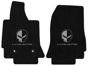 "Corvette ""Jake"" 2 Pc. Ultimat™ Floor Mat Set - Jet (2014 & up)"